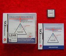 English Training calzado aprender inglés, Nintendo DS juego, versión en alemán