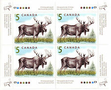$20 RARE COLLECTOR'S UM 2004 CANADA $5 MAJESTIC MOOSE OF 4 MINT STAMPS BLOCK