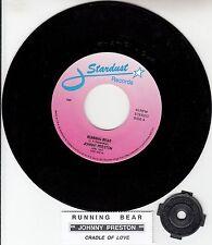 "JOHNNY PRESTON Running Bear & Cradle Of Love 7"" 45 record + juke box strip NEW"
