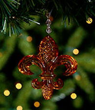 NEW in Original Packaging WATERFORD Crystal 2013 Fleur-de-lis AMBER Ornament