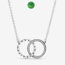 Pandora Entwined Circles Pandora Logo & Sparkle Collier Necklace,s925 396235CZ