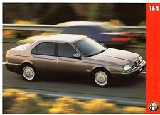 Alfa Romeo 164 1996-97 UK Market Leaflet Brochure 2.0 TS 3.0 V6 Super Cloverleaf