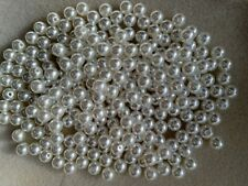 100 - 5000 Cream Faux Round Pearl Beads In 4 6 8 12 10 12 14mm  Jewellery Making