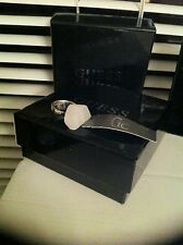 Womens Guess Rhodium Plated White Opaque Ring New And Boxed