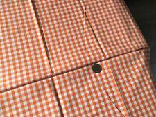Gingham Poly Cotton Fabric Orange 1/4 inch squares