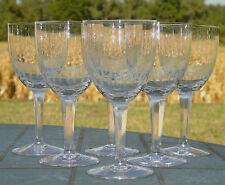 Villeroy et Boch - Service de 6 verres à vin en cristal taillé.