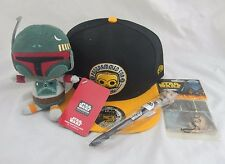 Star Wars Smugglers Bounty Lot, Hat, Chewbacca Pen, Boba Fett Plush