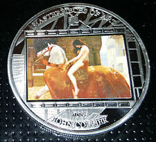 Lady Godiva Silver Large Coin Nubile Erotic Nudist Naked Woman on Horse English