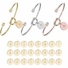 Personalized Bracelet Initial Knot Monogram Bridesmaid Bangle 26 Letter UK Stock