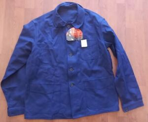 Adolphe Lafont Veste Bleu de travail T50, Moleskine deadstock, Old work jacket