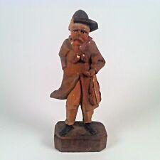 """Vintage ANRI Wood Carving Musician Figurine 3 3/8"""""""
