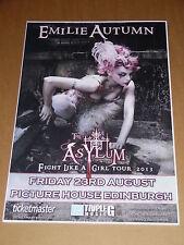 EMILIE AUTUMN live music band show aug 2013 promotional tour concert gig poster