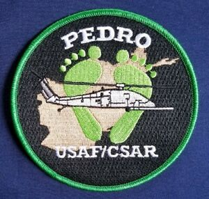 USAF CSAR PEDRO JOLLY GREEN FEET Pararescue Military PATCH