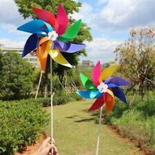 1 Pcs Garden Yard Camping Windmill Wind Spinner Ornament Decoration Kids Toy j