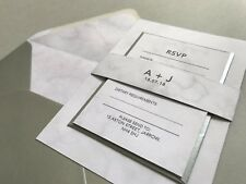 Marble Wedding Invite / Modern Wedding/ Wedding Invitations. Wedding Stationery