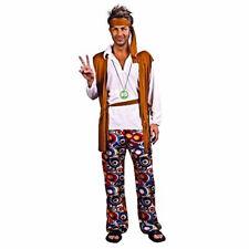 60's & 70's Hippie Groovie Mens Fancy Dress Costume Flower Power
