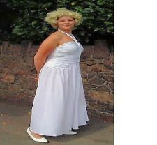 Marilyn Monroe White Dress 1950's 50's Fancy Dress Costume Size 10-12 P8629