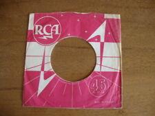RCA ORIGINAL USED COMPANY RECORD SLEEVE 45RPM 7 INCH  VG
