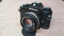 Nikon EM 35mm film SLR manual camera - new seals - with 50mm f1.8 series E