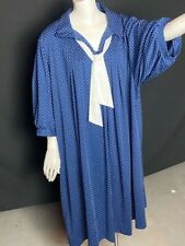 Women's Polka Dot Dress  Blue/White Size Large