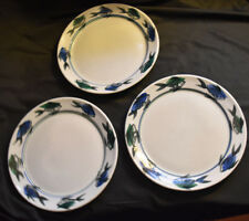Georgetown Pottery Vintage Fish Pattern Dinner Plates Set of 3 Maine