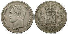 RARE 2 1/2 francs 1848 Léopold Premier Petite tête Bruxelles Belgique TTB Argent