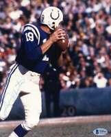 Johnny Unitas BAS Beckett Coa Hand Signed Vintage 8x10 Colts Photo Autograph