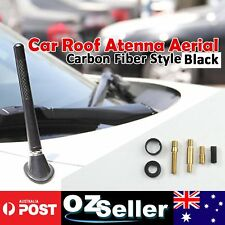 Black Carbon Fiber Car AMFM Radio Antenna Signal Amplifier For Nissan Navara D40