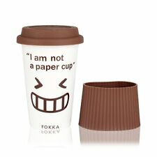 Eco Cup - Ceramic Travel Mug With Silicone Lid & Sleeve ,To-Go Tea and Coffee