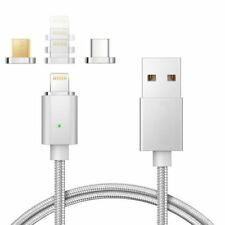 3 in 1 Magnet Lightning USB USB-C Ladekabel iPhone iPad Samsung HTC Magnetisch