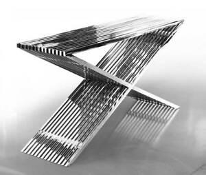 Modern Steel Sideboard Highboard With Acrylic Distanzstücken. 46 KG! L152 CM