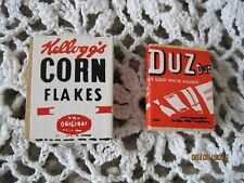 Miniature Cereal Box and Soap Duz Corn Flakes 1""