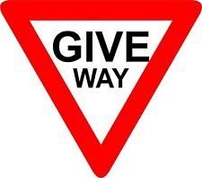 Sticker / Decal Give Way sign 300mm x 300mm KP680