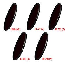 Filtro 62mm 680/720/760/850 / 950mM Infrarrojos De Rayos X IR Filtro para Cámara