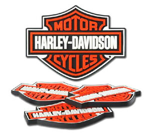 Harley-Davidson® Bar & Shield Logo Rubber Coaster 4-pc Set (5x4) HDL-18515