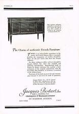 1920's BIG VINTAGE Jacques Bodart New York Antique Furniture Photo Print AD c