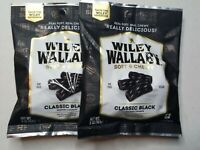 Black Gourmet Licorice Candy Wiley Wallaby Australian Style 5 oz Pack of 2