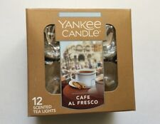 YANKEE CANDLE CAFE AL FRESCO TEA LIGHTS BOX OF 12 VHTF SCENT
