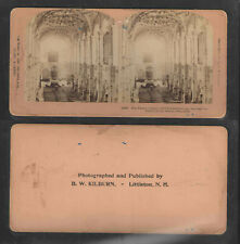 THE PALACE CHURCH SLOT FREDERIKSBORG DECORATIONS DENMARK ANTIQUE STEREOVIEW CARD