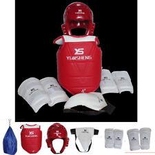 Kids adult  6PCS Set Taekwondo Boxing Head Chest Waist Leg Gear Protective guard
