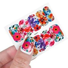Nail Art Water Decals Stickers Transfers Water Effect Flowers Tulips (WG277)
