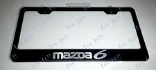 Mazda 6 Stainless Steel Black License Plate Frame Rust Free Caps