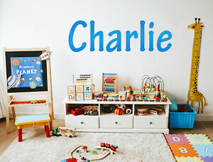 Personalised Wall Sticker Name Word Text Sign Decal Mural WallArt Gift Kids Room