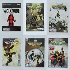 All-New Wolverine #1 (Hip-Hop Variant) plus #2,3,4,5,6. Marvel Comics 2015 X-23