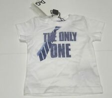 """D&G New BABY BOYS TIE PRINT & """"THE ONLY ONE"""" T-SHIRT TOP Sz: 3/6 RTL: $80 P953"""
