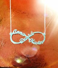 Personalized Infinity Name Necklace in sterling Silver 3 Names  | Name Jewelry