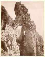 France, Formation rocheuse  vintage albumen print.  Tirage albuminé  19x24