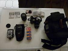 Kamera-Ausrüstung NIKON F801s mit 2 Top NIKOR Objektiven, Blitz und viel Zubehör