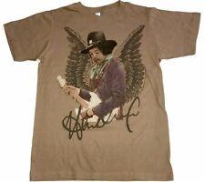 Jimi Hendrix T-Shirt Angel Little Wing Tultex Small S SM Brown Guitar Legend