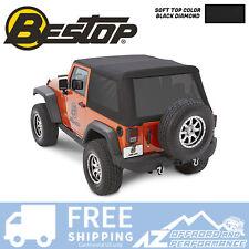 Bestop Trektop NX Glide Soft Top Black Diamond For 07-18 Jeep Wrangler JK 2 Door